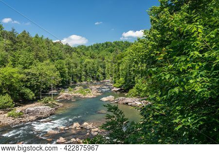 River Flows Through The Audra State Park Near Buckhannon In West Virginia