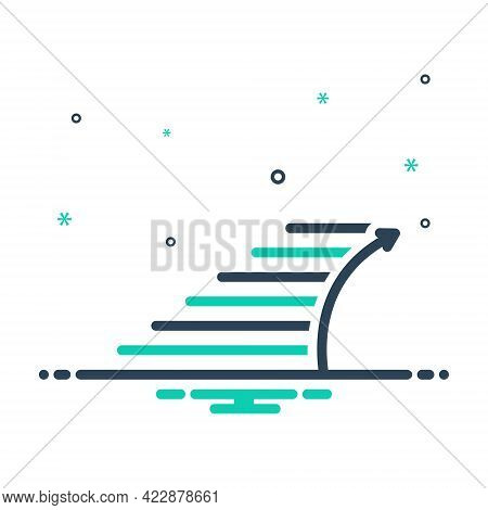 Mix Icon For Stairs Staircase Stairway Stepladder Sidestep Step Ladder Progress