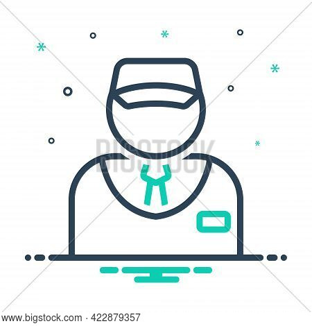 Mix Icon For Salesman Vendor Dealer Vender Marketeer Monger Business-man Broker