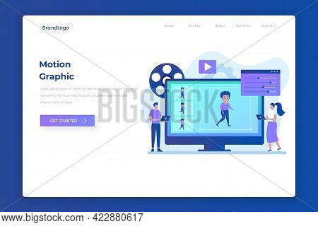 Motion Graphic Landing Page Illustration Concept