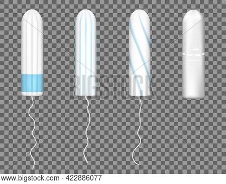 Realistic Woman Tampon. Feminine Hygiene Products. Protection For Woman In Critical Days. Woman Mens