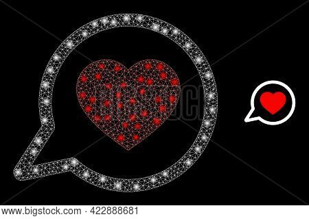 Constellation Net Favorite Message With Light Spots. Vector Constellation Based On Favorite Message