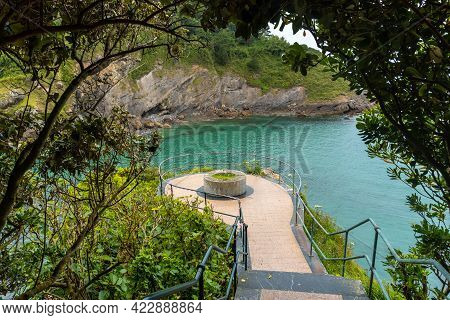 Viewpoint Of The Ea Municipality Near Lekeitio, Bay Of Biscay In The Cantabrian Sea. Basque Country
