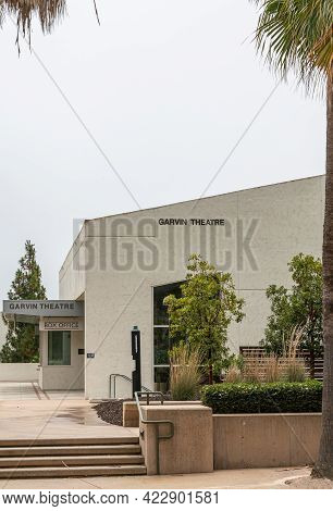Santa Barbara, Ca, Usa - June 2, 2021: City College Facilities. Garvin Theatre Box Office And Buildi