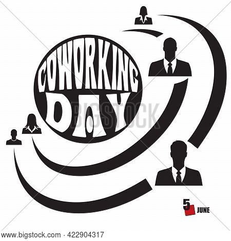 Calendar Date In June Dedicated To Cooperation In Business - Coworking Day