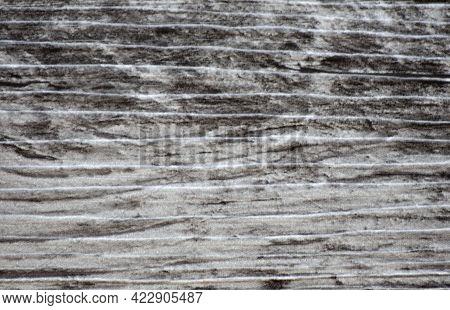 Lightened Black Oak Surface, Close-up Of Natural Dark Wood.