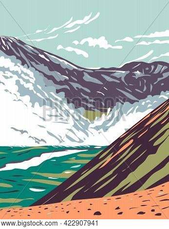 Wpa Poster Art Of Valley Of Ten Thousand Smokes Located In Katmai National Park And Preserve Filled