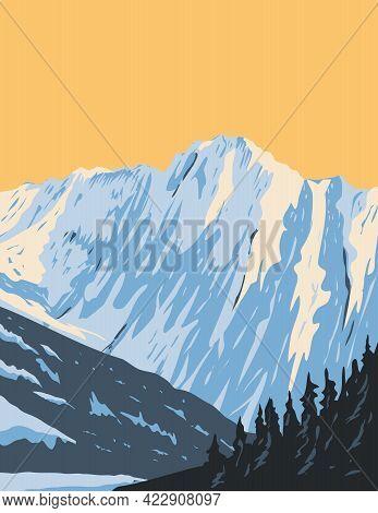Wpa Poster Art Of Summit Of Eldorado Peak At The Head Of Marble Creek And Inspiration Glacier Locate