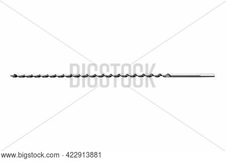 Drill Bit Isolated On White Background. Drill Bit Isolated. Spade Drill. Carpenter's Tools Backgroun