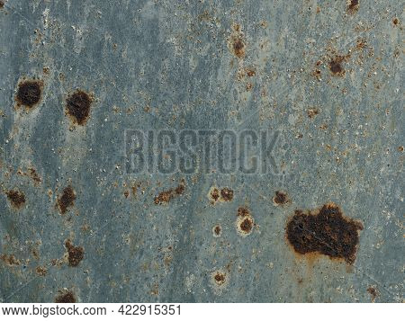 Galvanized Steel Surface With Rust Spots Using As Background