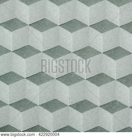 Cubic seamless geometric patterned background