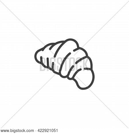 Croissant Pastry Line Icon. Linear Style Sign For Mobile Concept And Web Design. French Croissant Ou