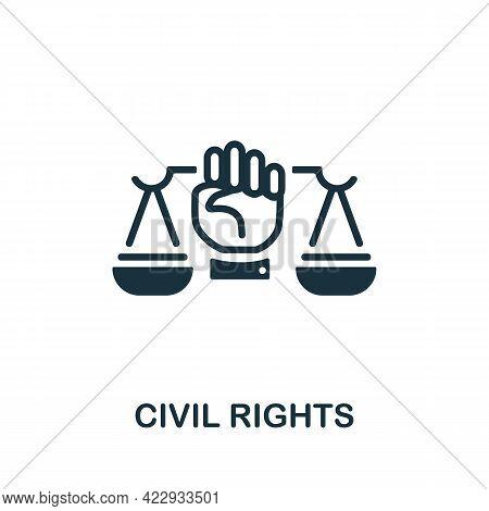 Civil Rights Icon. Monochrome Simple Element From Civil Rights Collection. Creative Civil Rights Ico