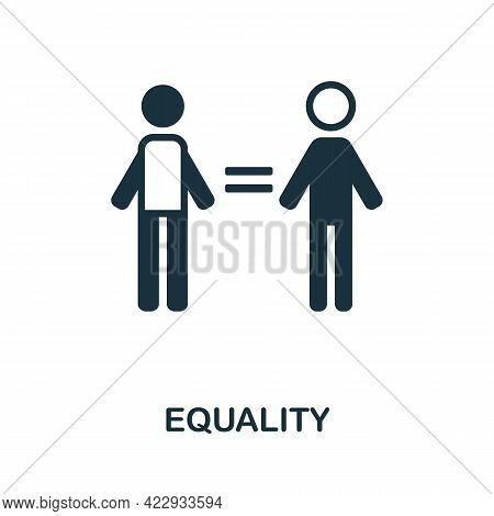 Equality Icon. Monochrome Simple Element From Civil Rights Collection. Creative Equality Icon For We