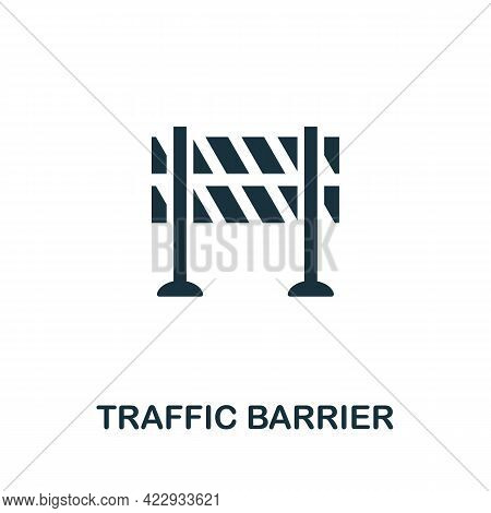 Traffic Barrier Icon. Monochrome Simple Element From Civil Rights Collection. Creative Traffic Barri