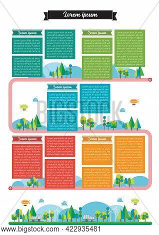Timeline Template Infographic. Vector Illustration Graphic Design