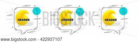Quote Mark Speech Bubble Banners. Quotation Dialog Message Icon. Line Balloon Sticker With Text. Set