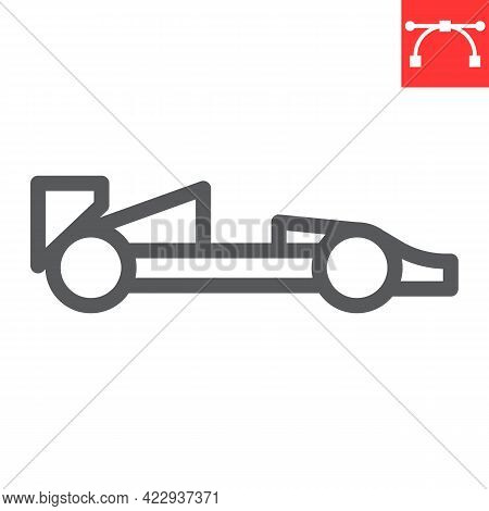 Race Car Line Icon, Transportation And Vehicle, Racing Car Vector Icon, Vector Graphics, Editable St