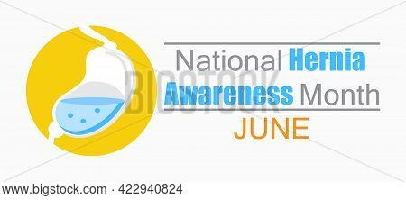 National Hernia Awareness Month Concept Vector. Medical Eventin June