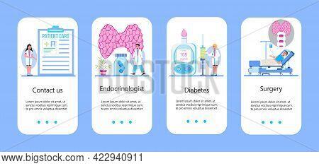 Hypothyroidism Concept Vector. Endocrinologists Diagnose, Human Thyroid Gland