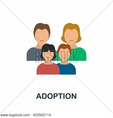 Adoption Icon. Flat Sign Element From Child Adoption Collection. Creative Adoption Icon For Web Desi