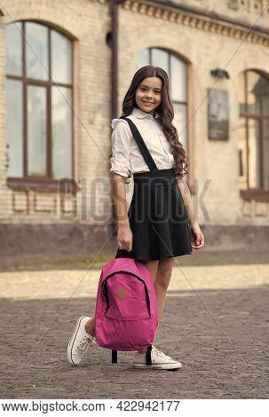 Clothes That Will Talk On Your Behalf. Happy Kid Wear Uniform. School Fashion. Formal Dress Code. Un