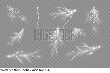 Effect Of Lightning, Lighting, Set Of Zippers.