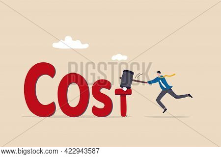 Cost Reduction, Business And Company To Keep Cost Low, Cut Spending Or Expense Deduction In Budget P