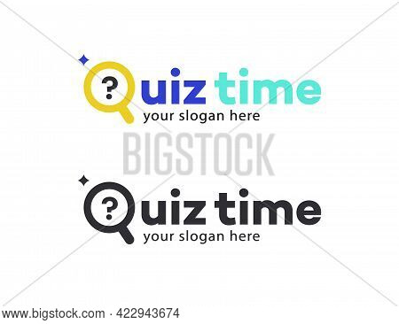 Quiz Vector Symbol With Question For Competition, Exam, Smart Show, Kids Game, Interview. Quiz Icon.