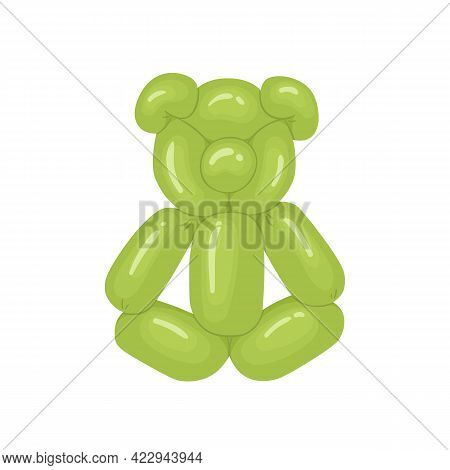 Realistic Animal-shaped Balloon, Cute Funny Childish Bear Toy For Kids Birthday Party. Twisted Heliu
