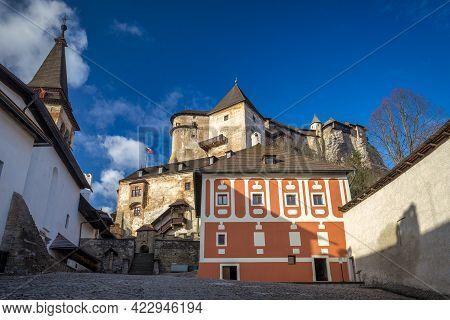 Courtyard Of The Medieval Orava Castle, Slovakia, Europe.