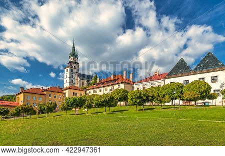 Main Square With Town Castle In Kremnica, Important Medieval Mining Town, Slovakia, Europe.
