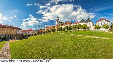 Panoramic View Of Main Square With Town Castle In Kremnica, Important Medieval Mining Town, Slovakia