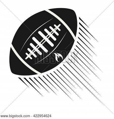 American Football Ball. American Football Ball Icon. Vector Illustration. Vector.
