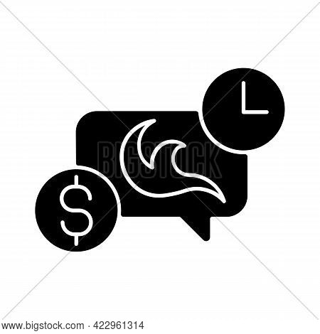 Tattoo Frequently Asked Questions Black Glyph Icon. Consultation Before Getting New Tattoo. Professi