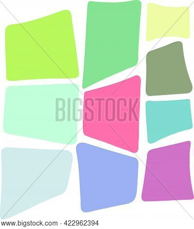 Random Shapes Set. Abstract Square Modern Shapes. Organic Contemporary Shapes Set.