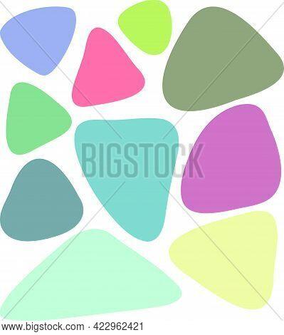 Abstract Triangle. Random Blotch Inkblot Round Organic Blob Blot Shape Splat. Drop Of Liquid Fluid P