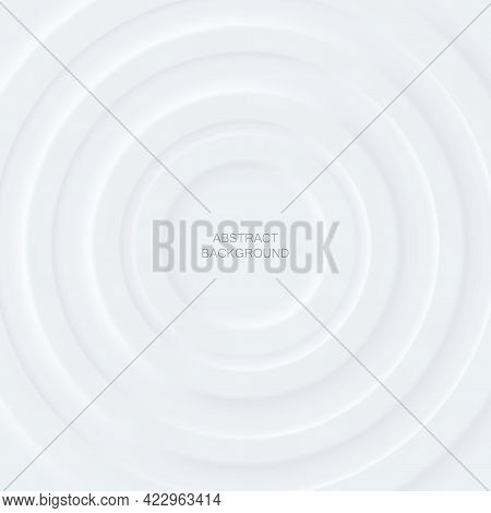 Abstract White Circles Layers On White Background.for Business Flyers Template, Book Covers And Mate