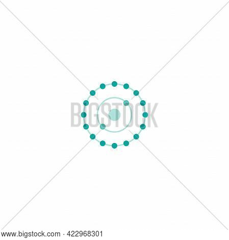 Antioxidant Icon. Radical Free Oxidant Molecule. Detox, Virus Protect Concept. Vector Illustration I