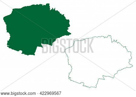 East Jaintia Hills District (meghalaya State, Republic Of India) Map Vector Illustration, Scribble S