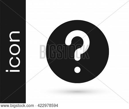 Black Unknown Search Icon Isolated On White Background. Magnifying Glass And Question Mark. Vector