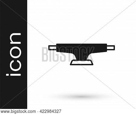 Black Skateboard Wheel Icon Isolated On White Background. Skateboard Suspension. Skate Wheel. Vector