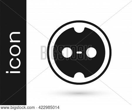 Black Electrical Outlet Icon Isolated On White Background. Power Socket. Rosette Symbol. Vector