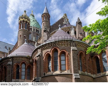 View Of The Cathedral Of Saint Bavo In Haarlem