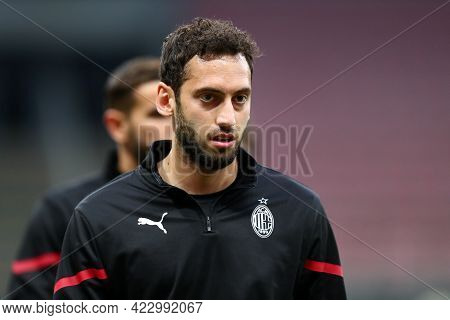 Milano, Italy. 16 May  2021. Hakan Calhanoglu Of Ac Milan  During The Serie A Match Between Ac Milan