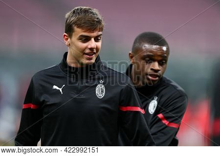 Milano, Italy. 16 May  2021. Daniel  Maldini Of Ac Milan  During The Serie A Match Between Ac Milan