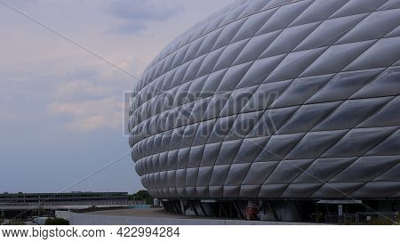 Famous Allianz Arena Stadium In Munich - Home Of Famous Soccer Club Fc Bayern Muenchen - City Of Mun