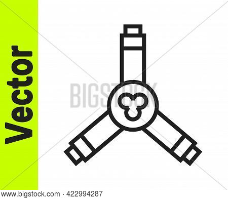 Black Line Skateboard Y-tool Icon Isolated On White Background. Vector