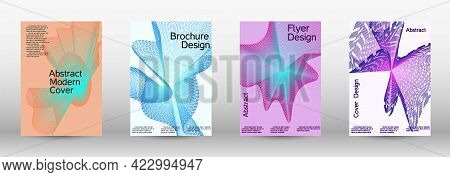 Modern Abstract Background. Modern Design Template. A Set Of Modern Abstract Covers.