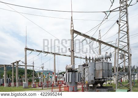 Substation. Transform Voltage From High To Low.